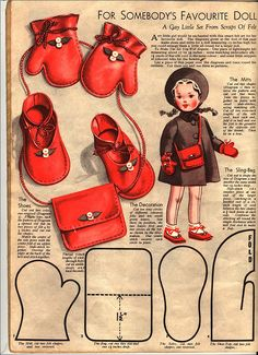 Doll accessories pattern