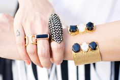 fashion blogger #itsnotheritsme wearing the gold BOERA glam shield ring