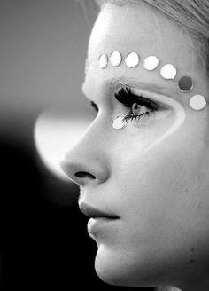 Retro-inspired makeup from Miu Miu. #beauty #makeup #runway