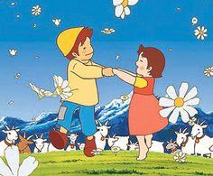 Alps no Shoujo Heidi アルプスの少女ハイジ 1974 Old Cartoons, Classic Cartoons, Disney Cartoons, Heidi Cartoon, Cartoon Kids, Online Image Editor, Couple Wallpaper, Japanese Characters, Studio Ghibli