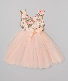 This Peach Floral Tutu Dress - Infant, Toddler  Girls by Designer Kidz is perfect! #zulilyfinds