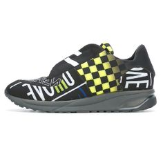 """961 - Maison Margiela: Concealed Vamp Sneaker with Print - """"Black/Yellow"""" Black N Yellow, Trainers, Adidas Sneakers, Men, Shoes, Fashion, Tennis, Moda, Zapatos"""