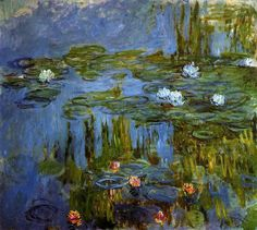 Claude Monet Water-Lilies 30 painting, oil on canvas & frame; Claude Monet Water-Lilies 30 is shipped worldwide, 60 days money back guarantee. Wassily Kandinsky, Claude Monet Pinturas, Monet To Matisse, Artist Monet, Art Sur Toile, Lily Painting, Monet Paintings, Wow Art, Impressionist Paintings