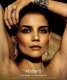 Katie Holmes for H. Stern jewelry.  I saw it in the fall issue of Vogue and I was amazed.  This makeup look and ad as a whole is fabulous not to mention she does a great job selling the jewelry...she looks stunning!!