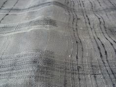 silk and monofilament warp with Japanese fancy yarns