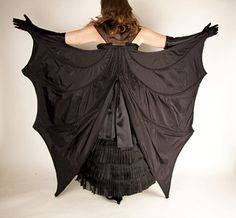 Bat wings from back