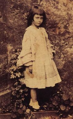 The real Alice in Wonderland, Alice Lindell 1862. Her family was friends with the author. He penned the story for her when she was 10.