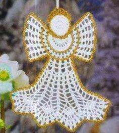 Collezione di angeli all'uncinetto con schemi / Crcolochet angels collection, free charts