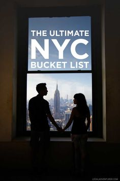 The Ultimate NYC Bucket List - from the touristy spots everyone has to do at least once to the ones a little more off the beaten path. // http://localadventurer.com
