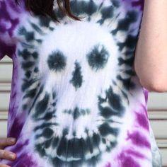 Bad to the Bone Tie-Dye Skull T-shirt