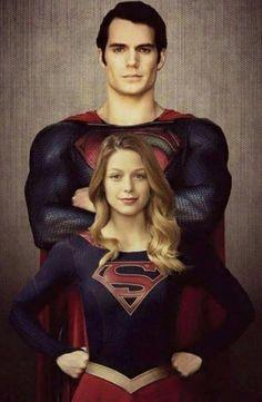 Superman and Supergirl (Henry Cavill and Melissa Benoist) Batman Vs Superman, Mundo Superman, Supergirl Superman, Superman Family, Supergirl And Flash, Original Superman, Marvel Dc Comics, Marvel Vs, Captain Marvel