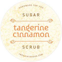Tangerine Cinnamon Sugar Scrub Label