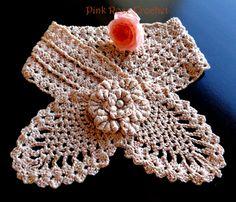 free crochet neck warmer patterns | ... ROSE CROCHET /: Golinha de Abacaxi - Pineapple Neck Warmer Pattern