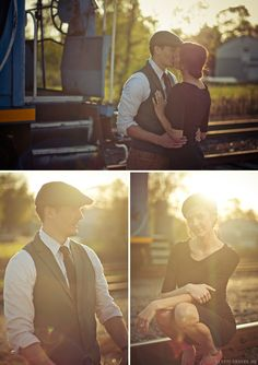 Vintage inspired engagement photos.