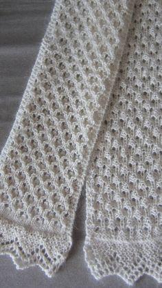 Free Knitting Scarf Pattern Patron en ligne-anglais: beau a l'envers comme a l'endroit