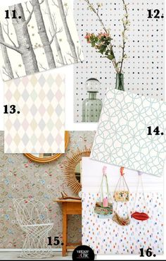 16 feminine and modern wallpapers for Nordic air bedrooms · 16 feminine & modern wallpapers with nordic vibes - Vintage & Chic. Small decoration stories - Textil y papel pintado - Decoracion Vintage Chic, Modern Wallpaper, Kids Rugs, Quilts, Diy, Blanket, Bedrooms, Wallpapers, Decoration