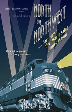 North by Northwest Movie Poster Redesign