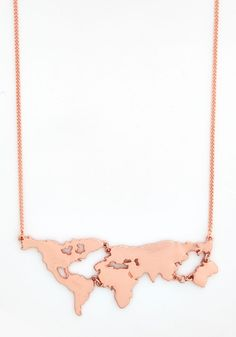 There's a Map for That Necklace in Copper. There are maps for exploring new cities and scenery - and now, theres even a map to wear as a statement necklace!  #modcloth