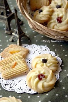 "Cute and Delicious Piped Cookies! ""The dough is easy to make for these crispy, delicious piped cookies! Have fun topping them with jam, chocolate chips, or citrus peel. Recipe by Toiroiro""  @allthecooks #recipe"