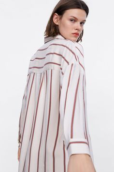 STRIPED OVERSIZED SHIRT - View all-TOPS-WOMAN-SALE | ZARA Australia