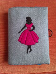 A6 50's lady felt notebook cover