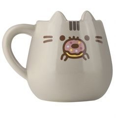 Pusheen + a delicious doughnut = purrrfection! This cute mug features everyone's favourite kitty, complete with 3D ears. Definitely one of the sweetest mugs we've ever seen!
