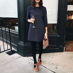 @ro.birkey shows you can wear clogs for any occasion. highwood tbar tan clogs. #lovemylottas...