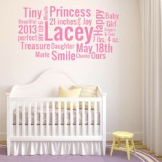 Custom Baby Word Cloud |  Wall Decal World