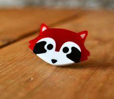 Red Panda Brooch  Cute Panda Brooch  Badge  Animal by minifelts