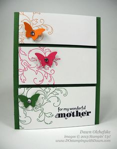 stampin up, dawn olchefske, dostamping, Elements of Style, Bitty Butterfly, Quick & Cute