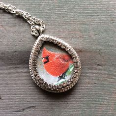 Guardian Cardinal Necklace/Woodland/Boho by TheOmbrePoodle on Etsy