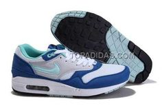 http://www.topadidas.com/nike-air-max-1-87-mens-white-blue.html Only$79.00 #NIKE AIR MAX 1 87 MENS WHITE BLUE #Free #Shipping!