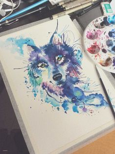Watercolor wolf for a tattoo. Studio Lotus Tattoo - Watercolor wolf for a tattoo. Studio Lotus Tattoo The Effective Pictur - Wolf Tattoos, Ocean Tattoos, Tattoos Masculinas, Hindu Tattoos, Movie Tattoos, Circle Tattoos, Symbol Tattoos, Skull Tattoos, Fish Tattoos