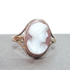 10k Sardonyx Cameo Ring Vintage 10k Yellow Gold by Betsysbijoux