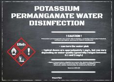 Potassium Permanganate water disinfection #NeganTips #watertips click here: https://ift.tt/2IVPhGi