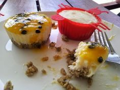 Chunky on Chia: Raw Passionfruit Cheesecake