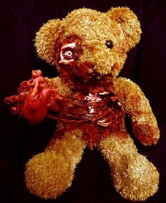 Valentine zombie teddy.  <3  Omg I so need this on valentines!!! Mostly since I'm like the last one loved but hey