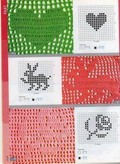 revistas de manualidades gratis Filet Crochet Charts, Crochet Gratis, Basic Crochet Stitches, Crochet Diagram, Knitting Charts, Crochet Motif, Diy Crochet, Crochet Designs, Crochet Doilies