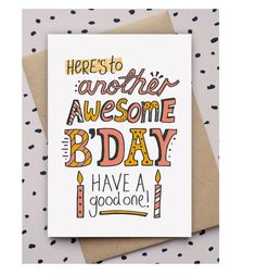 Hand drawn, doodle, type, birthday card