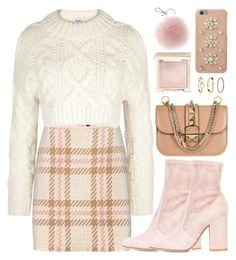 """""""Softly Look"""" by monmondefou ❤ liked on Polyvore featuring MARC CAIN, DKNY, Valentino, MICHAEL Michael Kors, Jouer, H&M, Pink and beige"""