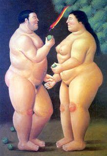 Fernando Botero (1932-) Adam and Eve (2005) Nasceu em Medelin, Colômbia. Influenciado pela arte pré colombiana e por Diego Rivera.
