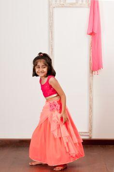 My draped skirt in Indian ensemble. CHQ2013/L-2 coral