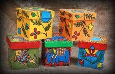hand painted madhubani keepsake boxes - swati seth's colour caravan