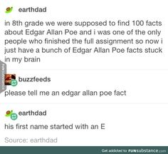He died while being delusional. Every women he ever loved died of tuberculosis Funny Pins, Stupid Funny Memes, Funny Tweets, Funny Cute, Hilarious, Haha Funny, Random Stuff, Funny Stuff, Funny Tumblr Posts