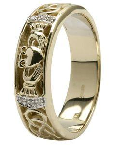 New Celtic Ring k Gold Celtic Wedding Band Set Unique Celtic Wedding Ring Celtic Engagement Ring Pagan Jewelry Celtic Jewelry Irish Ring by Rin u