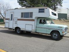 Ford Pickup with Chassis Mount Camper