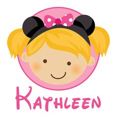 Personalized Girl With Mouse Ears - Personalized with ANY name and to look like your child. $17.00, via Etsy.