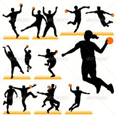 Handball Players Silhouettes Set  #GraphicRiver         Handball silhouettes in action. Can be used for decoration of the gym.     Created: 21August11 GraphicsFilesIncluded: JPGImage #VectorEPS Layered: Yes MinimumAdobeCSVersion: CS Tags: athlete #ball #champion #championship #collection #competition #cup #defense #figure #fun #game #goal #goalkeeper #handball #jump #league #match #player #practice #recreation #run #score #shoot #silhouette #sport #team #training #world