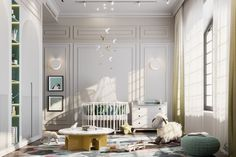 Baby Room Design, Baby Room Decor, Dream Home Design, Home Interior Design, Cool Kids Rooms, Residential Complex, Minimalist House Design, One Bedroom Apartment, Aesthetic Room Decor