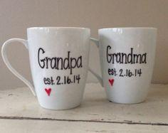 Grandparent Coffee Mug Set Grandma And Grandpa By